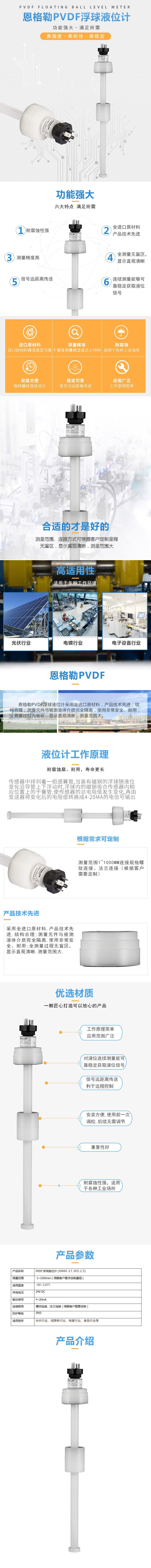 PVDF浮球液位计ANM-17.305.2.5